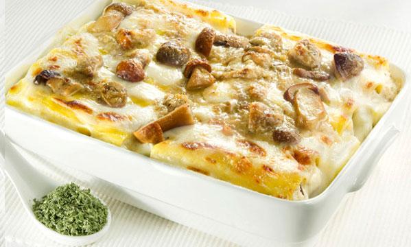 Primi piatti di natale cannelloni ai funghi female for Ricette primi piatti di carne
