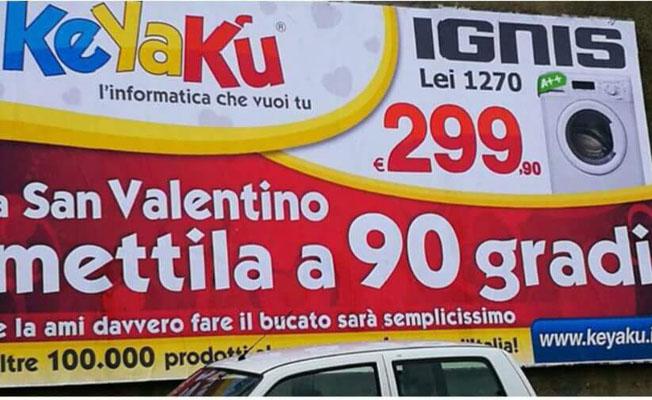 San Valentino, pubblicità sessista a Cosenza