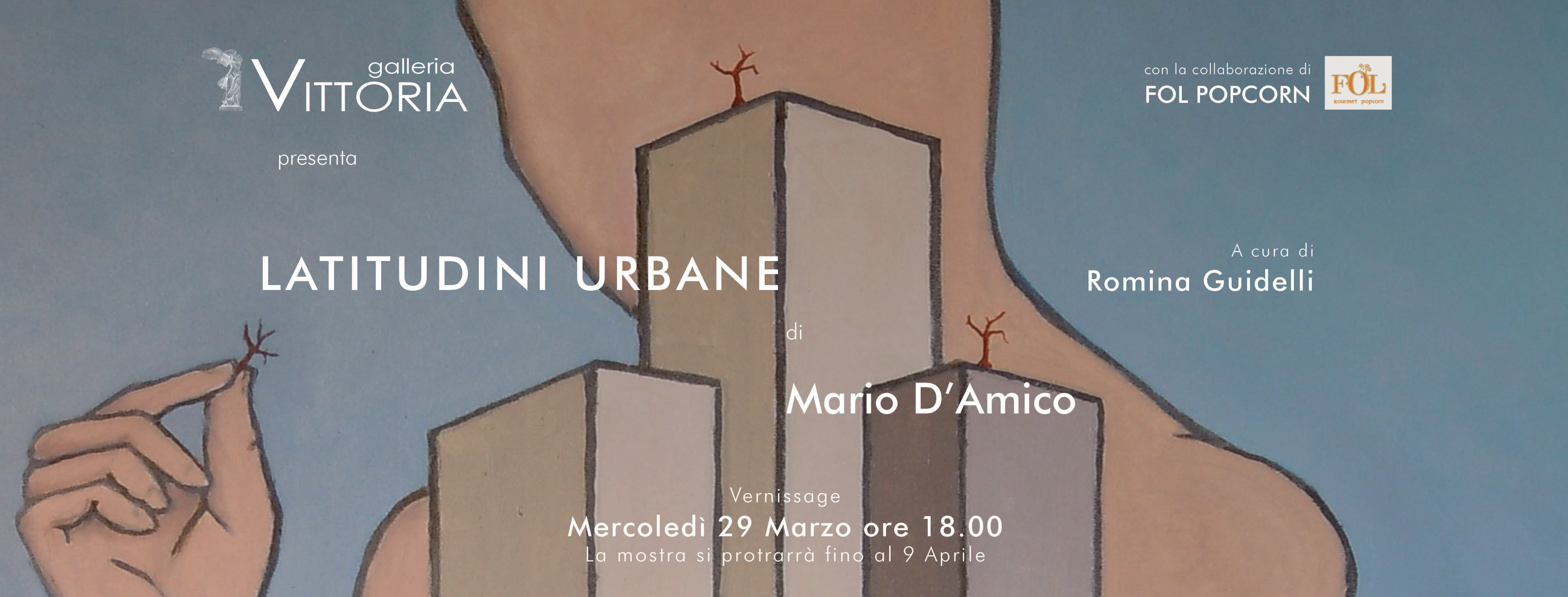 Latitudini Urbane di Mario D'Amico in mostra a Roma presso la Galleria Vittoria