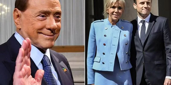 Berlusconi su Macron, la battuta infelice sulla first lady francese