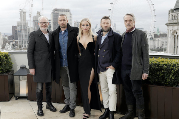 Jennifer lawrence Red Sparrow Londra Versace