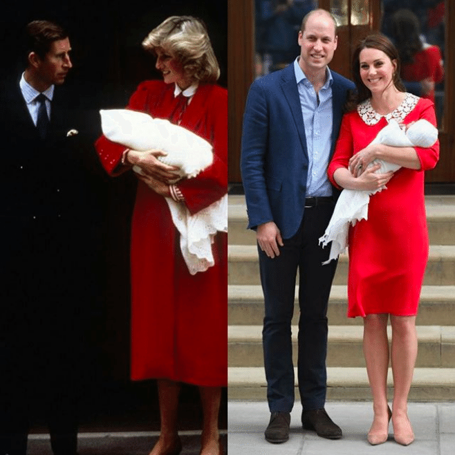 Kate Middleton outfit come Lady Diana